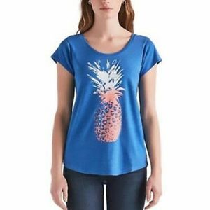 Lucky Brand Pineapple Shirt Size M